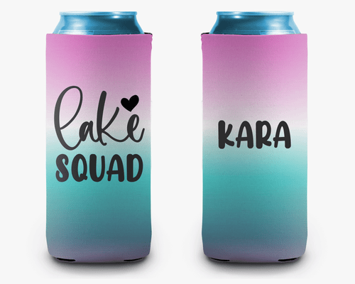 Lake Squad Personalized Can Cooler Koozie