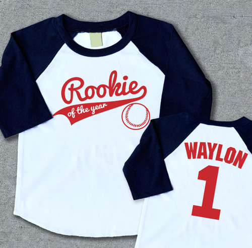 Rookie of the year first birthday shirt