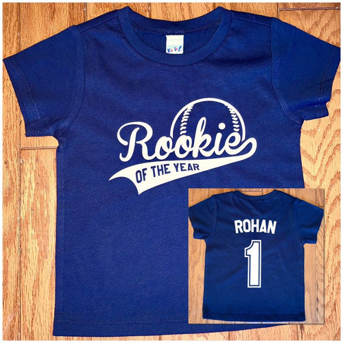 Rookie of the year birthday shirt