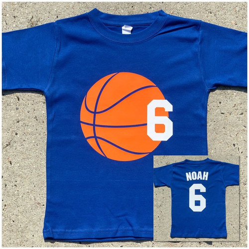 Basketball birthday shirt royal blue shirt