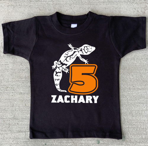 Leopard gecko birthday shirt