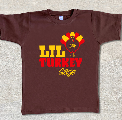 big turkey personalized thanksgiving holiday shirt