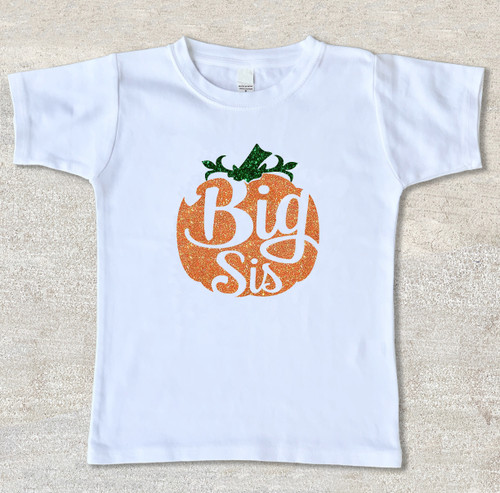 Big Sister pumpkin halloween thanksgiving shirt