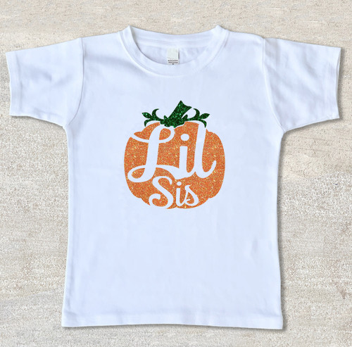 Little Sister pumpkin halloween thanksgiving shirt