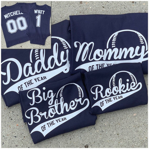 Family set of 4 navy shirts