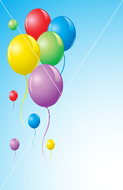 vector colorful balloons background