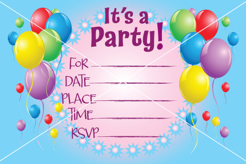 balloon birthday party rsvp invitation