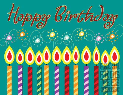 happy birthday greeting card vector illustration background