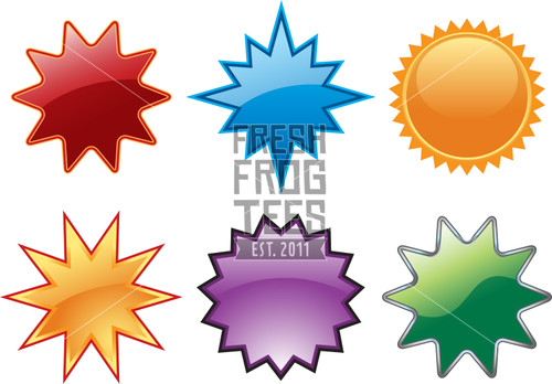 Colorful vector star icon images