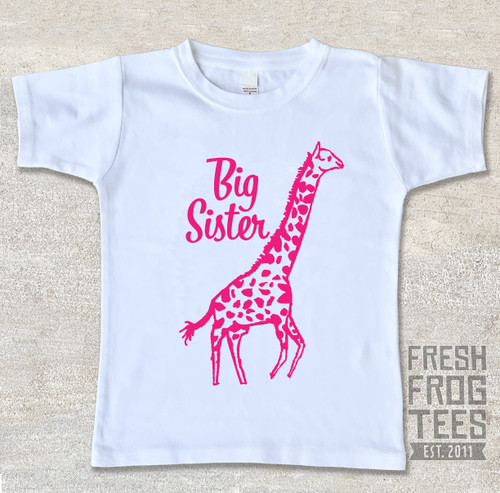Giraffe big sister sibling shirt