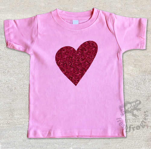 valentine graphic tee on pink tshirt