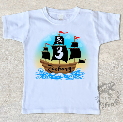 Pirate birthday shirt for boys custom personalized