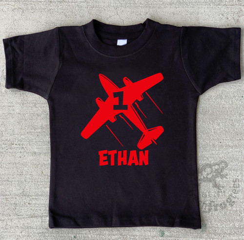 Airplane first birthday shirt