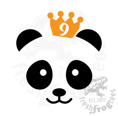 9th birthday panda svg vector illustration