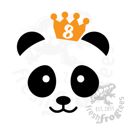 8th birthday panda svg vector illustration