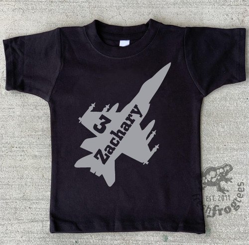 Fighter jet airplane birthday shirt