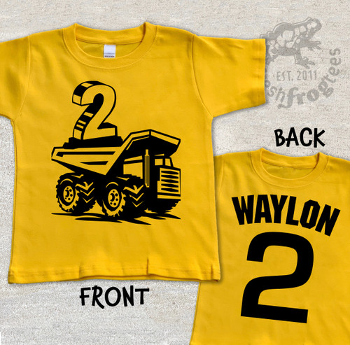 construction personalized dump truck shirt