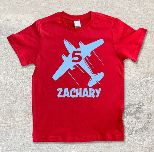 Personalized Birthday Airplane Shirt