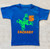 Frog reptile birthday shirt royal blue