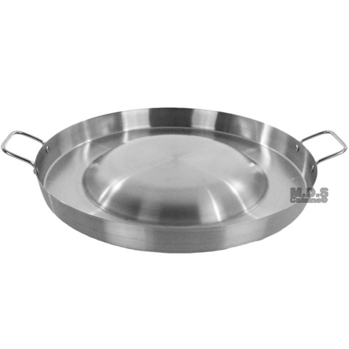 """Comal Stainless Steel 21"""" Acero Inoxidable Convex Outdoors Stir Fry Heavy Duty"""