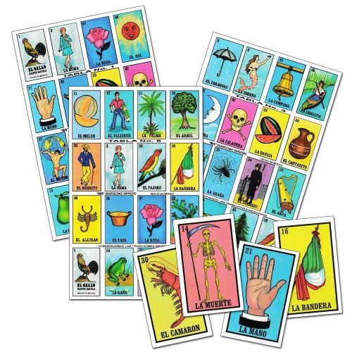 Ematik Loteria Mexican Bingo Juego De Lotería Mexicano Sabor Latino Traditional Card 8 Player Game