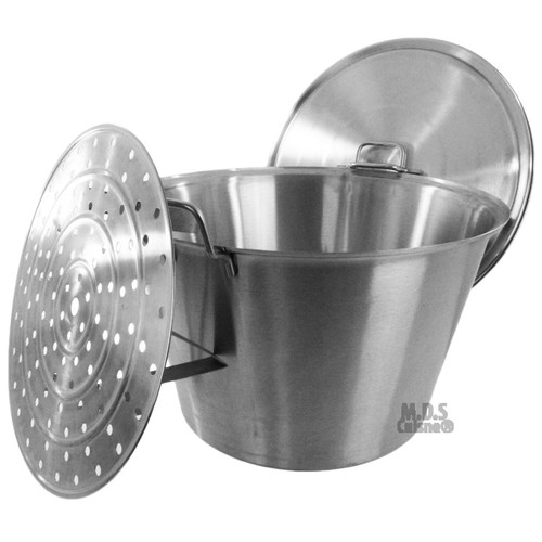 Cazo Lid and Steamer Stainless Steel Caso Heavy Duty Carnitas Vaporera New Pot