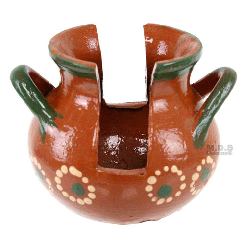 Napkin Holder Authentic Traditional 100% Lead Free Mexican Clay Barro Floral Handprinted Artisan Kitchen Decor