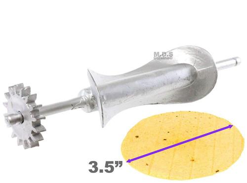 """Tortilla Cutter Roller Blades Aluminum Manual Electric Tortillador Homemade Tortillalero Huarache Huarachera Machinera Replacement Cutters (3.5"""" Tortilla Cutter)"""