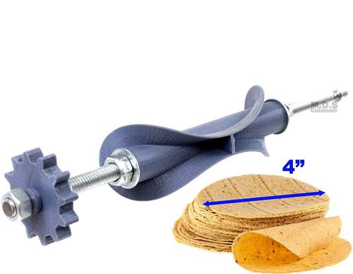"""Ematik Tortilla Cutter Roller Blade 4"""" Manual Electric Tortillador Tortillalero Machinera Replacement Cutter for Tortilla Maker Machines"""