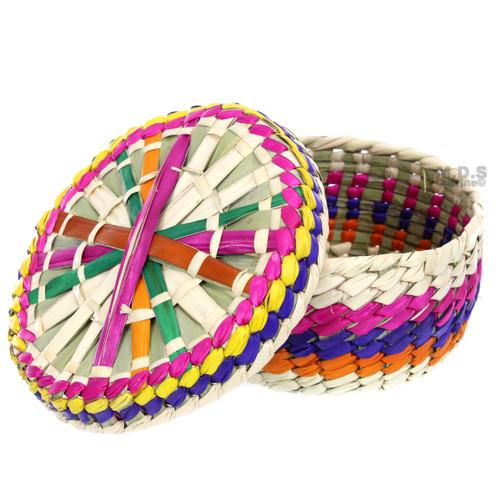 """Tortilla Warmer 7"""" Palm Multicolored Hand Made in Mexico Palma Tortilla Server …"""