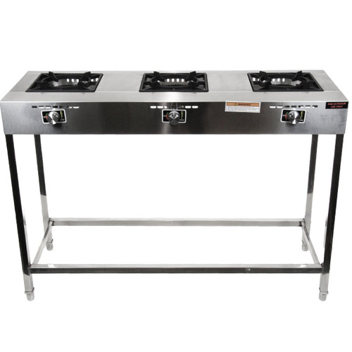 Stove 3 Burner Stainless Steel High Pressure Heavy Duty Outdoor