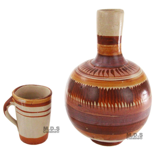 Botellon de Barro sin Plomo Terracota Water Jug 4 QT Lead free Traditional NEW