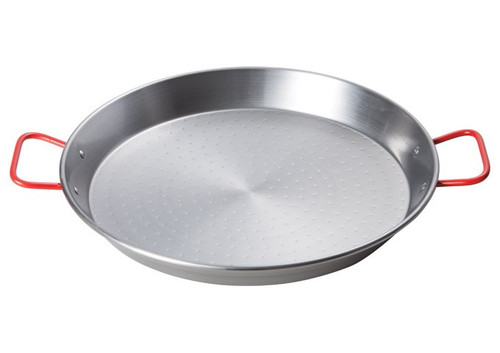 """Paella Pan 14"""" High Quality Non-Stick Polished Carbon Steel Traditional Mediterranean Cuisine Paellera"""