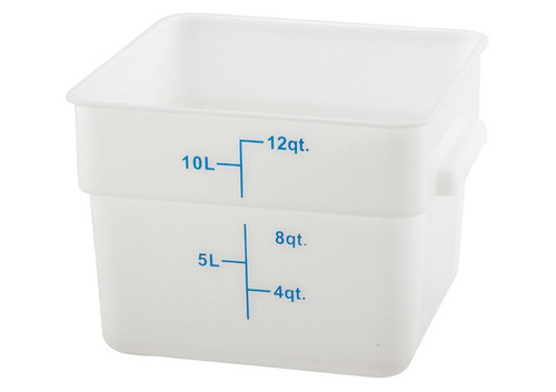 Storage Container 12 Qt  Durable Translucent Polypropylene Square Measuring Food Storage