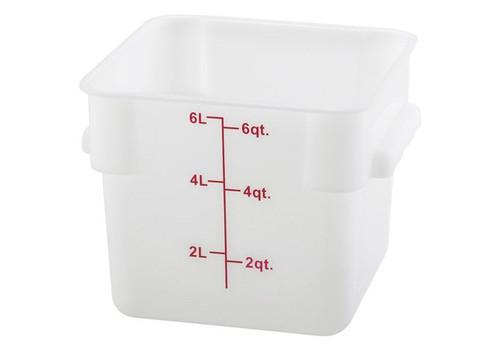 Storage Container 6 Qt. Durable Translucent Polypropylene Square Measuring Food Storage
