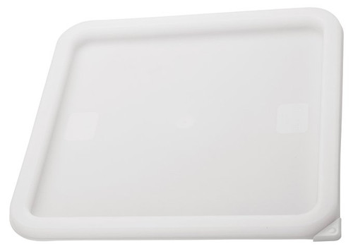 Storage Lid for 2 and 4 Qt. Container Durable Translucent Polypropylene Square Measuring Food Storage