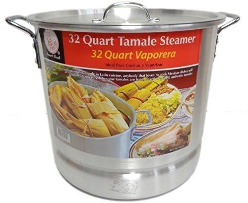 32 Qt Tamale Steamer Vaporera Stock pot Premium Aluminum 8 Gallons Fry Pan NEW
