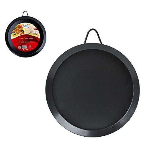 Comal Round 11-Inch Carbon Steel Tortillas Mexican Griddle Frypan Non-Stick NEW