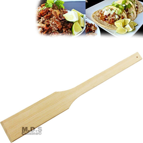 "Wood Utensils Mixing Paddle Oak 36"" Pala Heavy Duty Commercial Cazo Carnitas"