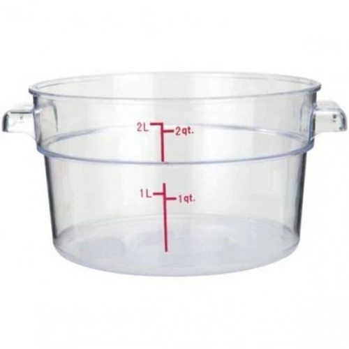 Storage Food Container 2 Qt. Clear Round