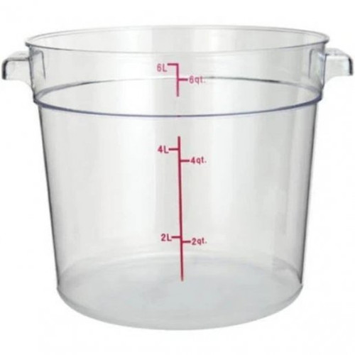 Storage Food Container 6 Qt. Clear Round