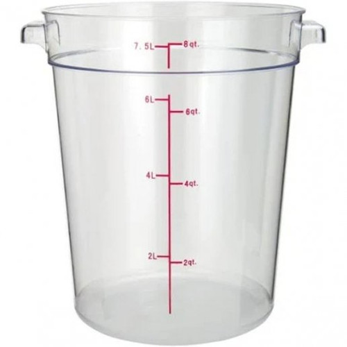Storage Food Container 8 Qt. Clear Round