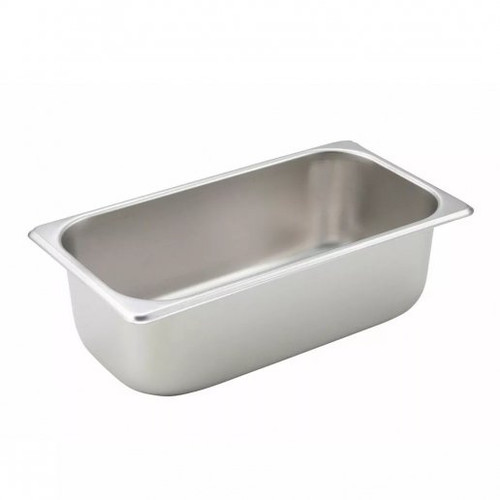 "Tray 1/3 Steam Table Pan 4"" Deep Stainless Steel"
