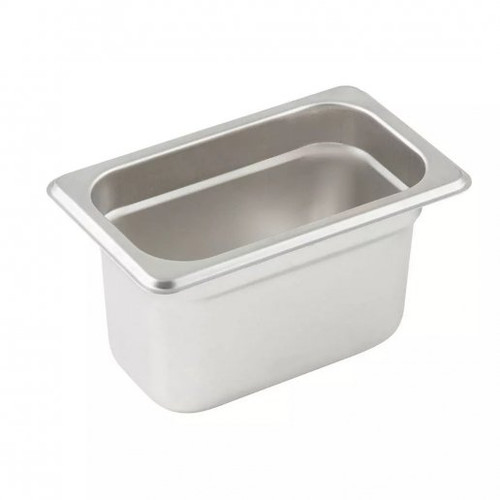 "Tray 1/9 Steam Table Pan 4"" Deep Stainless Steel"