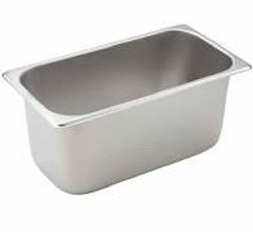 "Tray 1/3 Steam Table Pan 6"" Deep Stainless Steel"