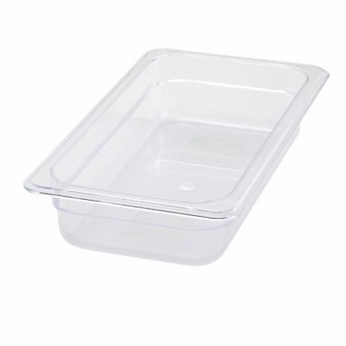 "Tray 1/2 Food Pan 4"" Deep Poly-Ware Clear"