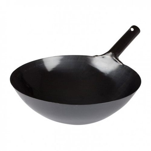 """Wok 16"""" Carbon Steel Japanese Style with Welded Handle"""