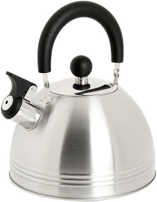 Mr. Coffee Carterton Stainless Steel Whistling Tea Kettle, 1.5-Quart, Silver
