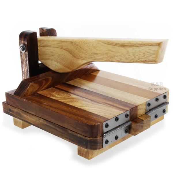 "Tortilla Press 10""  Premium Hardwood Parota Ash  Heavy Duty Tortilla Maker Made"