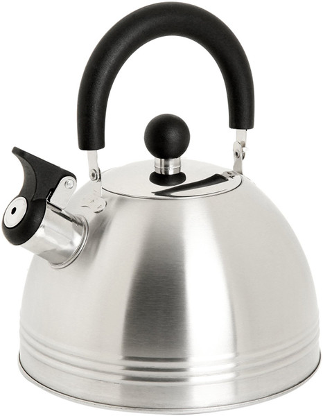 Mr. Coffee Carterton Stainless Steel Whistling Tea Kettle, 1.5-Quart, Silver